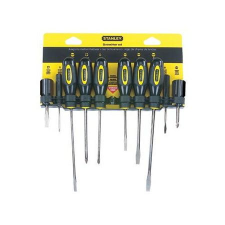 stanley tools 10 pc standard fluted screwdriver sets 10 piece screwdriver. Black Bedroom Furniture Sets. Home Design Ideas