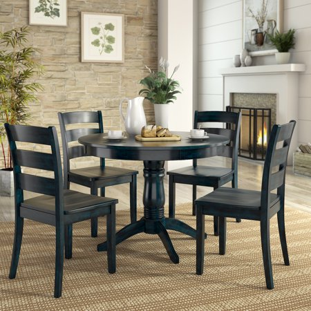 Lexington 5-Piece Dining Set with Round Table and 4 Ladder ...