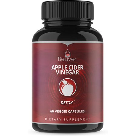 Apple Cider Vinegar Capsules - Best Dr Recommended Strength Vitamins Pills for Weight Loss, Detox Support, Cleanse, Bloating Relief & Metabolism Booster Supplements for Women and Men - 1250 mg (Best Way To Eliminate Bloating)