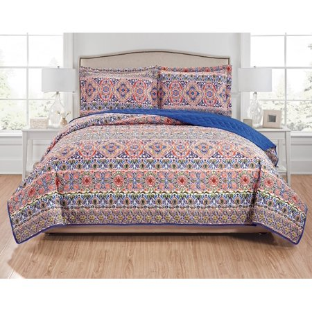 Giselle 3-Piece Reversible Quilt Set - Queen ()