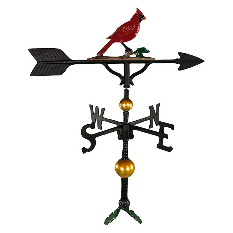 Deluxe Color Cardinal Weathervane 32 in. by Montague Metal Products