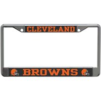 Cleveland Browns Carbon Small Over Large Metal Acrylic Cut License Plate Frame