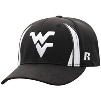 Men's Russell Athletic Black West Virginia Mountaineers React Adjustable Hat - OSFA