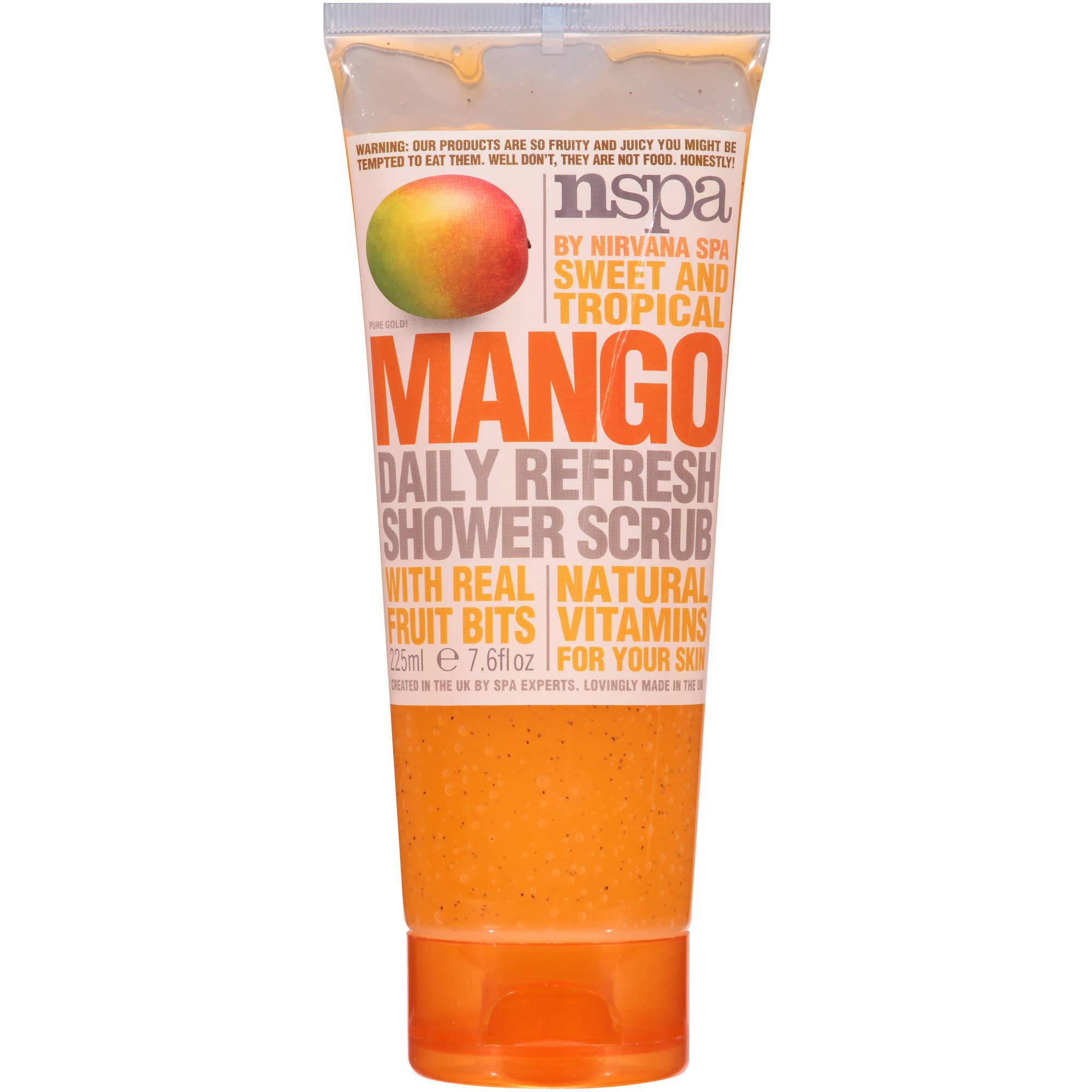 NSPA Sweet and Tropical Mango Daily Refresh Shower Scrub, 7.6 fl oz