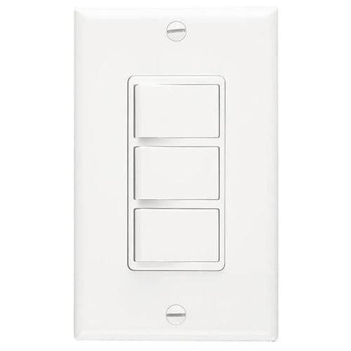 PS Trademaster® Ivory Decorator Double Rocker Wall Light Switch 15A 120V TM811-I