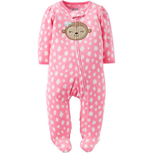 Child of Mine by Carter's Newborn Baby Girl Microfleece Sleep N Play