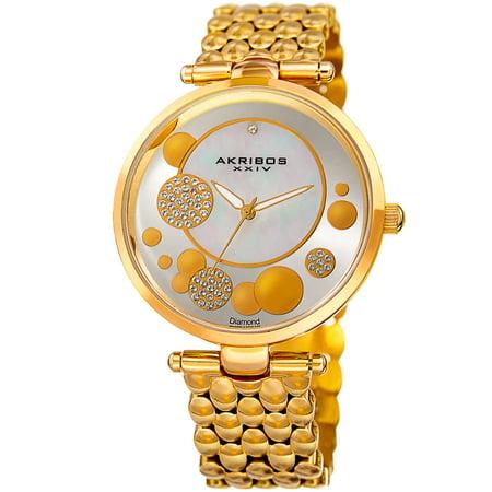 Women s Swiss Quartz Diamond Swarovski Crystal Gold-Tone Bracelet - Diamond Womens Swiss Watch