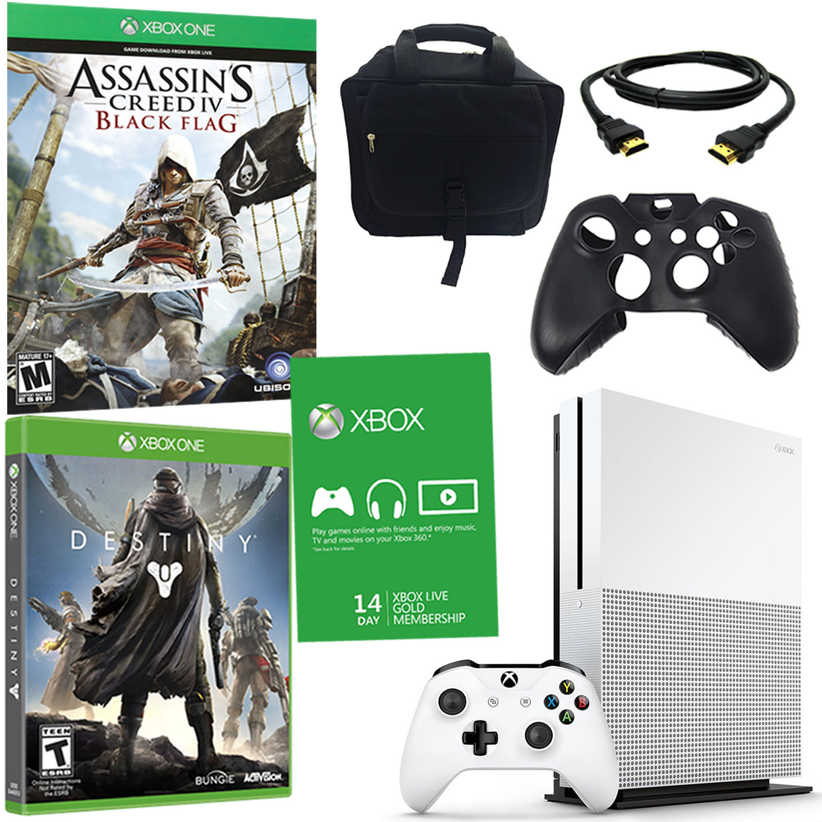 Xbox One S 2TB Console with 2 Games and Accessories