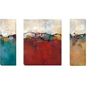 Artistic Home Gallery 'Retro Jewels  I, II, & III' by Laurie Maitland 3 Piece Painting Print on Wrapped Canvas Set