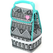 Actic Zone Lunch Bag Plus, Black and White Aztec