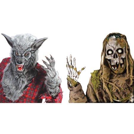 Decoracion Halloween Zombie (Wicked Windows Zombie and Werewolf Halloween)