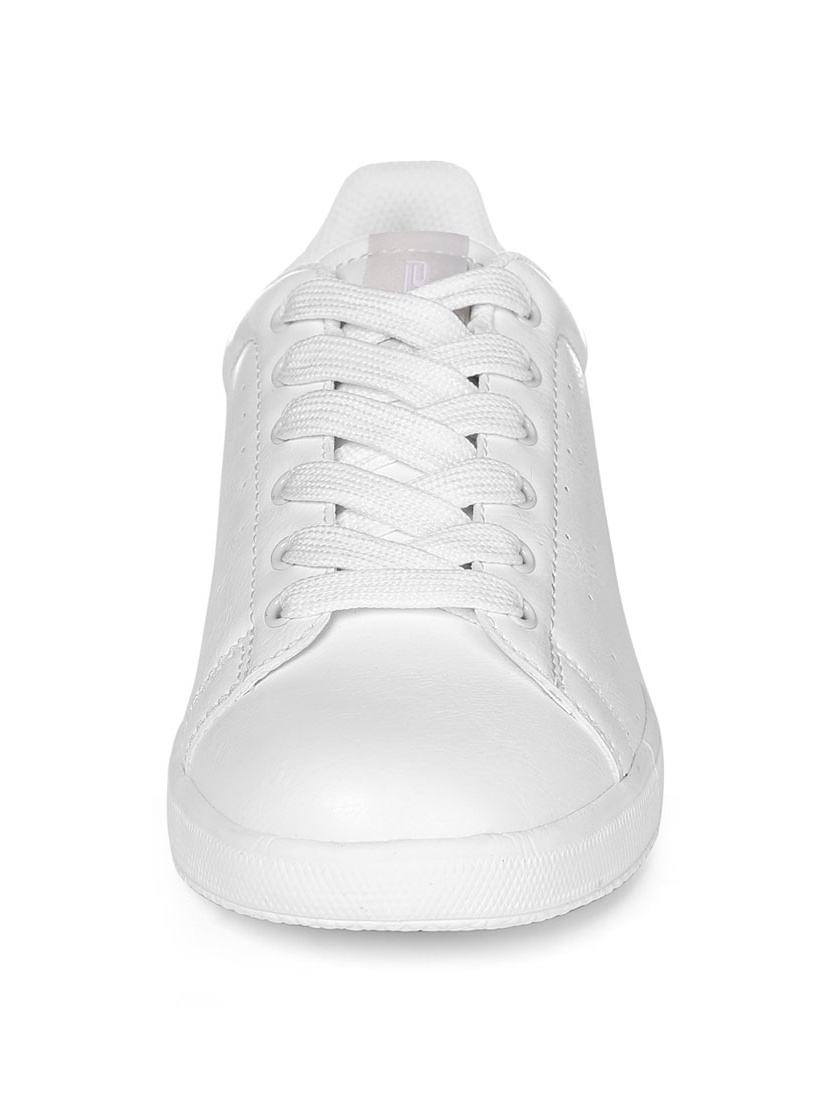 PYPE Women Round Toe Low Top Lace Up Sneakers White US 8