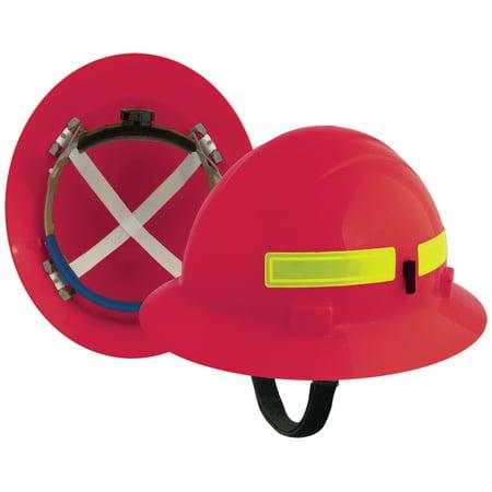 Americana Wildlands Mega Ratchet Full Brim Hard Hat, (Wildland Fire Helmets)