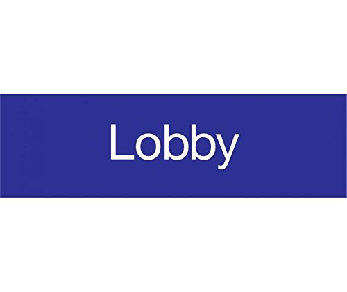 EN12BL National Marker Engraved Lobby Label Sign, 3 Inches x 10 Inches, Blue, 2Ply Plastic