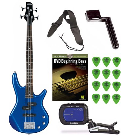 Ibanez GSRM20 Mikro Short-Scale Bass Guitar (Blue) w/ Tuner & Accessory Kit (Short Scale Bass Guitar)