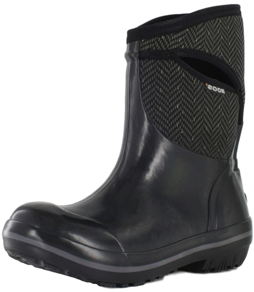 "Bogs Boots Womens 10"" Plimsoll Herringbone Rubber 71414 by Bogs"