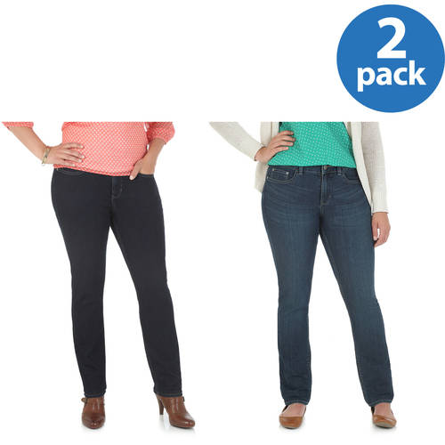 Riders by Lee Women;s Curvy Skinny Jean, Comes in Regular, Petite and Long Lengths 2pk Value Bundle