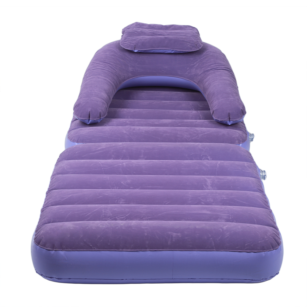 House Inflatable Pull Out Sofa Couch Full Single Air Bed Mattress Sleeper Purple Walmart