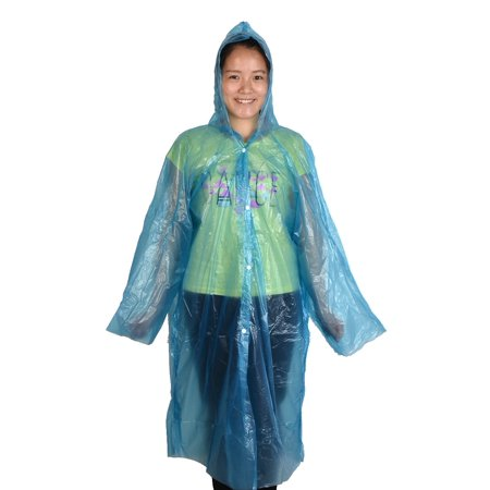 Travel Hiking Plastic Cover Water Resistant Dustproof Disposable Raincoat