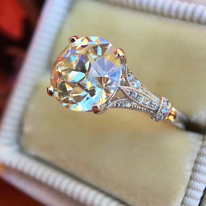 AkoaDa - AkoaDa Solitaire Engagement Ring Bridal Wedding ...