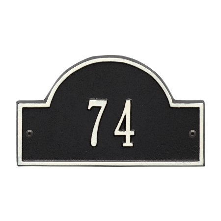 Arch Marker Address Plaque (Personalized Whitehall Products Petite One-Line Arch Marker Address Plaque in Black/White)