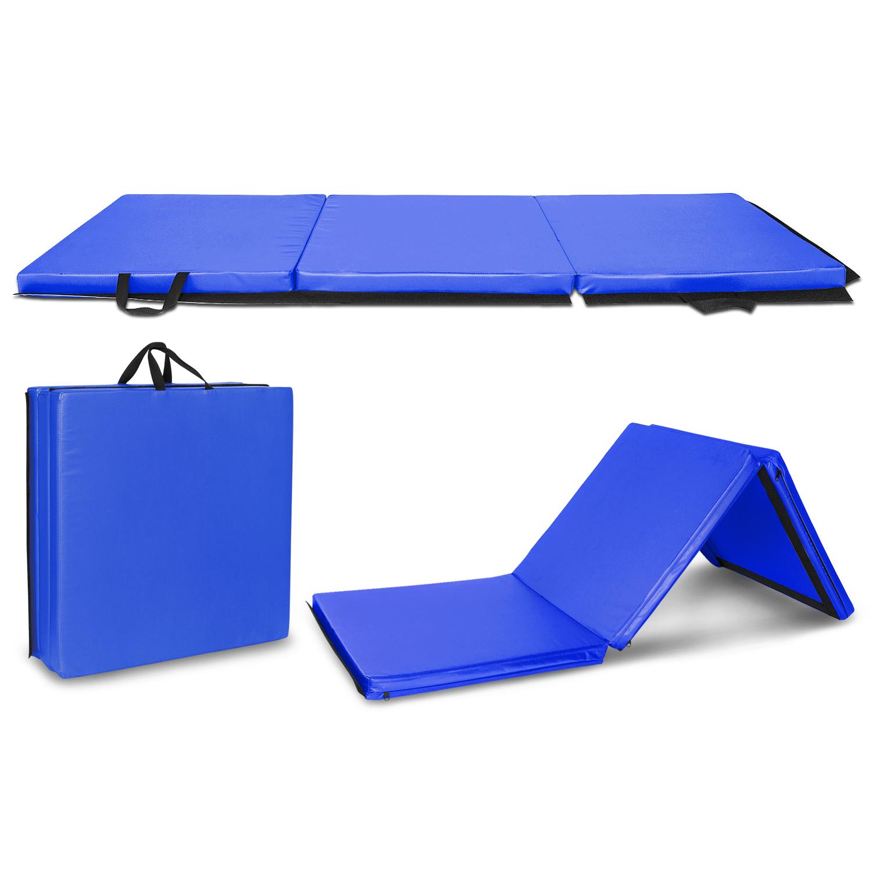 "UbesGoo 6' x 2' x 2"" Folding Gymnastics Gym Exercise Aerobics Mat, Extra Thick Waterproof Tumbling Pad Crawling Cushion , for Stretching Yoga Cheerleading Martial Arts"