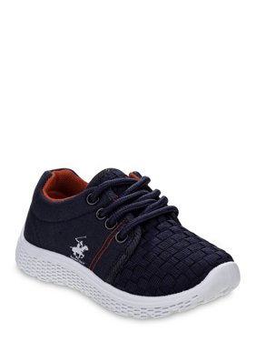 Bevery Hills Polo Club Lace Up No Tie Bump Toe Sneakers (Infant Boys)