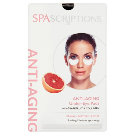 SpaScriptions Anti-Aging Under-Eye Pads Pairs Eye Treatments, 5 count