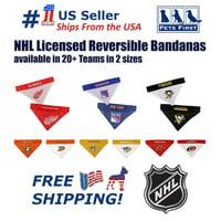 Pets First NHL Pittsburgh Penguins Bandana! NEW Reversible Pet Bandana - 2 sided Premium Bandanna