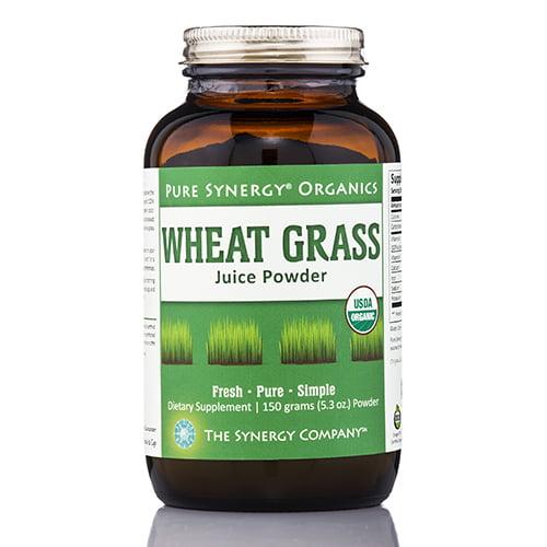 Pure Synergy Organics Wheat Grass Juice Powder USA 5.3oz 100% Certified Organic