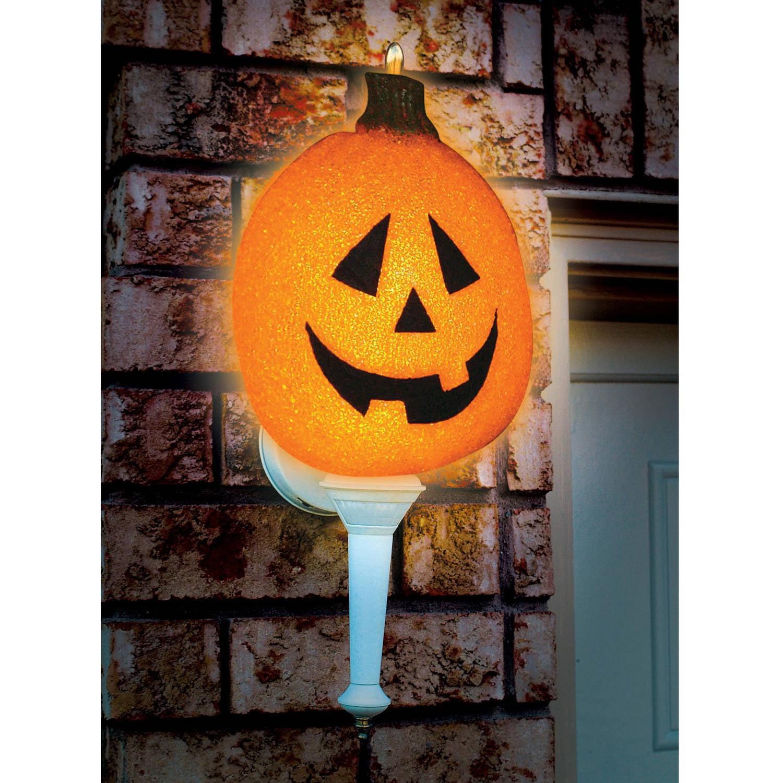 Sparkling Pumpkin Porch Light Cover Halloween Decor by Generic