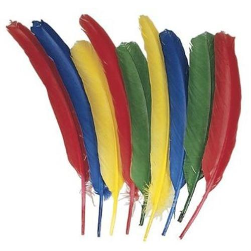 Chenille Kraft Quill Feathers, Assorted Colors, 24 Feathers/Pack 4503