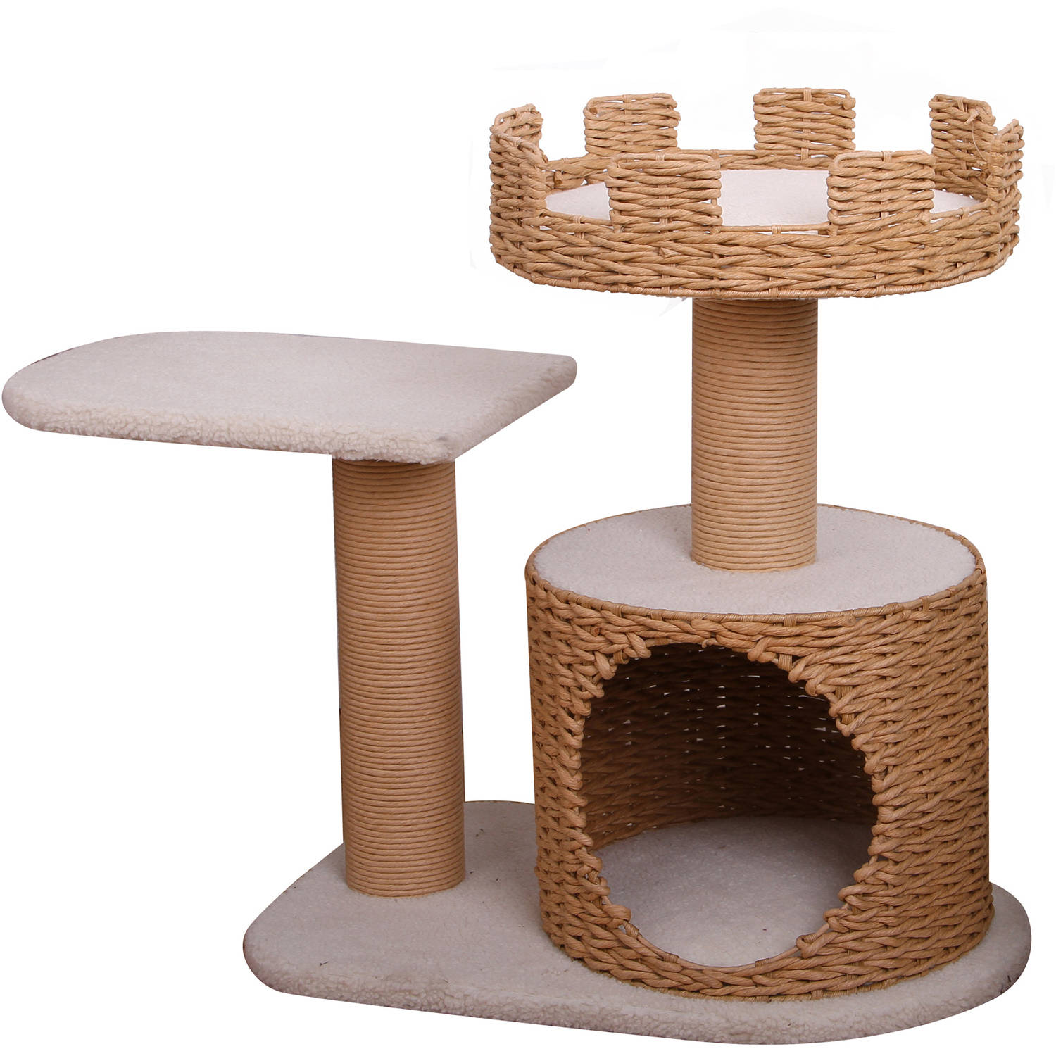 Petpals Group Crown Paper Rope Condo with 2 Perch Levels
