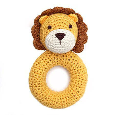 Cheengoo Organic Bamboo Crocheted Lion Ring Rattle