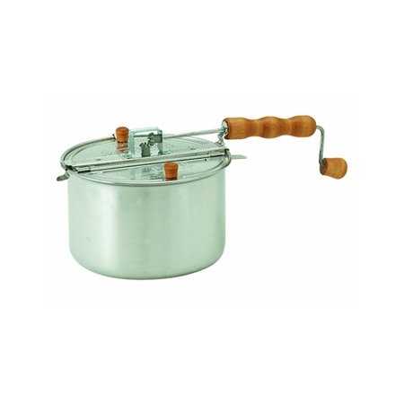 Original Silver Whirley Pop Stovetop Popcorn Popper with Popping Kit - Perfect Popcorn in 3 Minutes, Makes a Great Gift, PERFECT POPCORN IN 3 MINUTES: The.., By Wabash Valley Farms