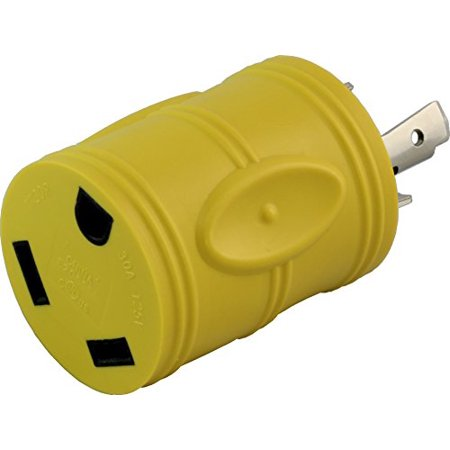- AC Connectors [RVL530TT] RV Generator Adapter Generaator L5-30P 30A 3Prong Plug to RV 30A TT-30R adapter