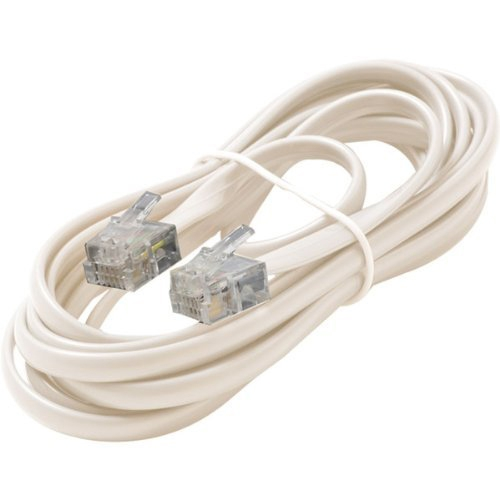 Steren BL-324-007WH Premium Telephone Line Cable - for Phone - 7 ft - White