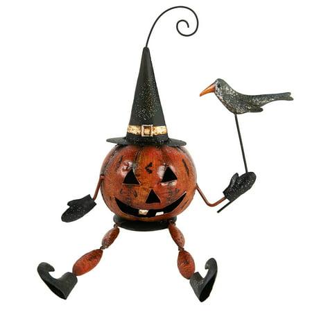 Halloween Jackolantern/ Pumpkin Man Sitting Décor - Halloween Jackolantern Faces