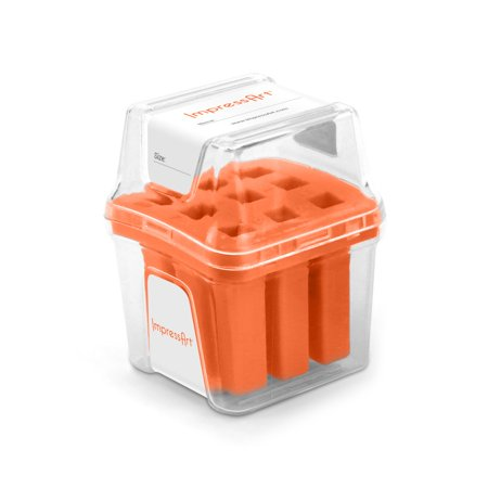 ImpressArt Punch Stamp Storage Case for 6mm Numbers, Includes Labeled Slots for 0-8 (6 used as 9), Orange
