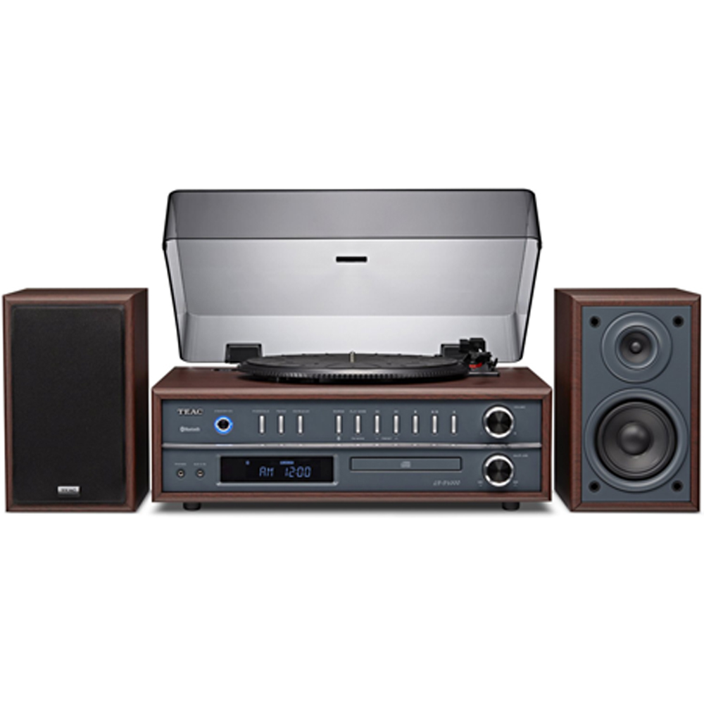Teac LP-P1000 Turntable Stereo System with CD/Radio/Bluetooth - Cherry Finish
