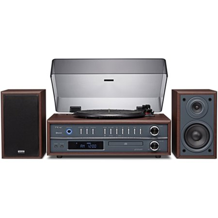 Teac LP-P1000 Turntable Stereo System with CD Radio Bluetooth Cherry Finish by
