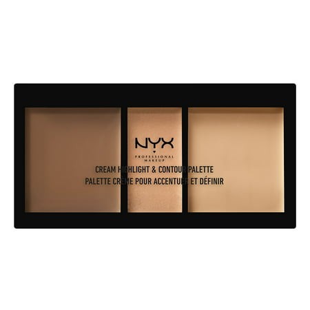 NYX Professional Makeup Cream Highlight & Contour Palette, Medium