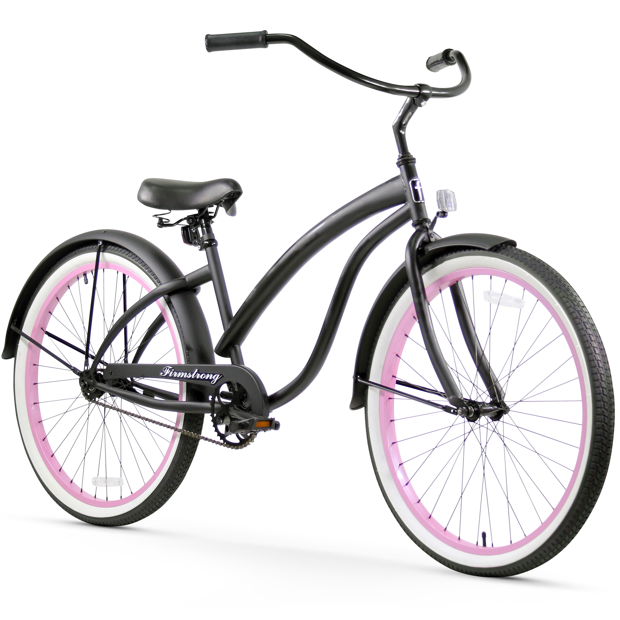 "Firmstrong 26"" Woman's Bella Fashionista Beach Cruiser Bicycle, 1, 3 and 7 Speed"