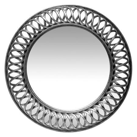 Infinity Instruments Lattice Round Wall Mirror - 22.75W x 22.75H