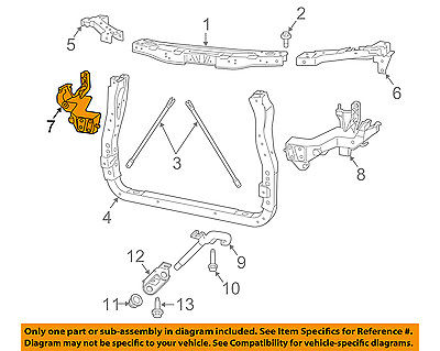 Dodge CHRYSLER OEM Durango Radiator Support-Support Bracket Right 68227826AA