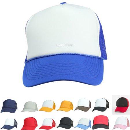 Trucker Hat Baseball Cap Mesh Caps Blank Plain Hats Men Women Adjustable - Plain Baseball Caps