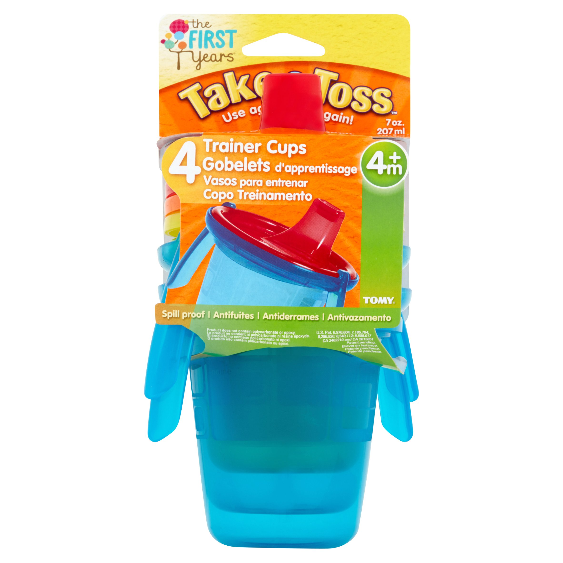 The First Years Take & Toss Hard Spout Trainer Sippy Cup - 4 pack