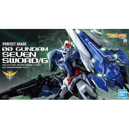 Bandai Hobby Gundam 00 Seven Sword Seven Sword/G 1/60 PG Perfect Grade Model (00 Gundam Seven Sword G Metal Build)