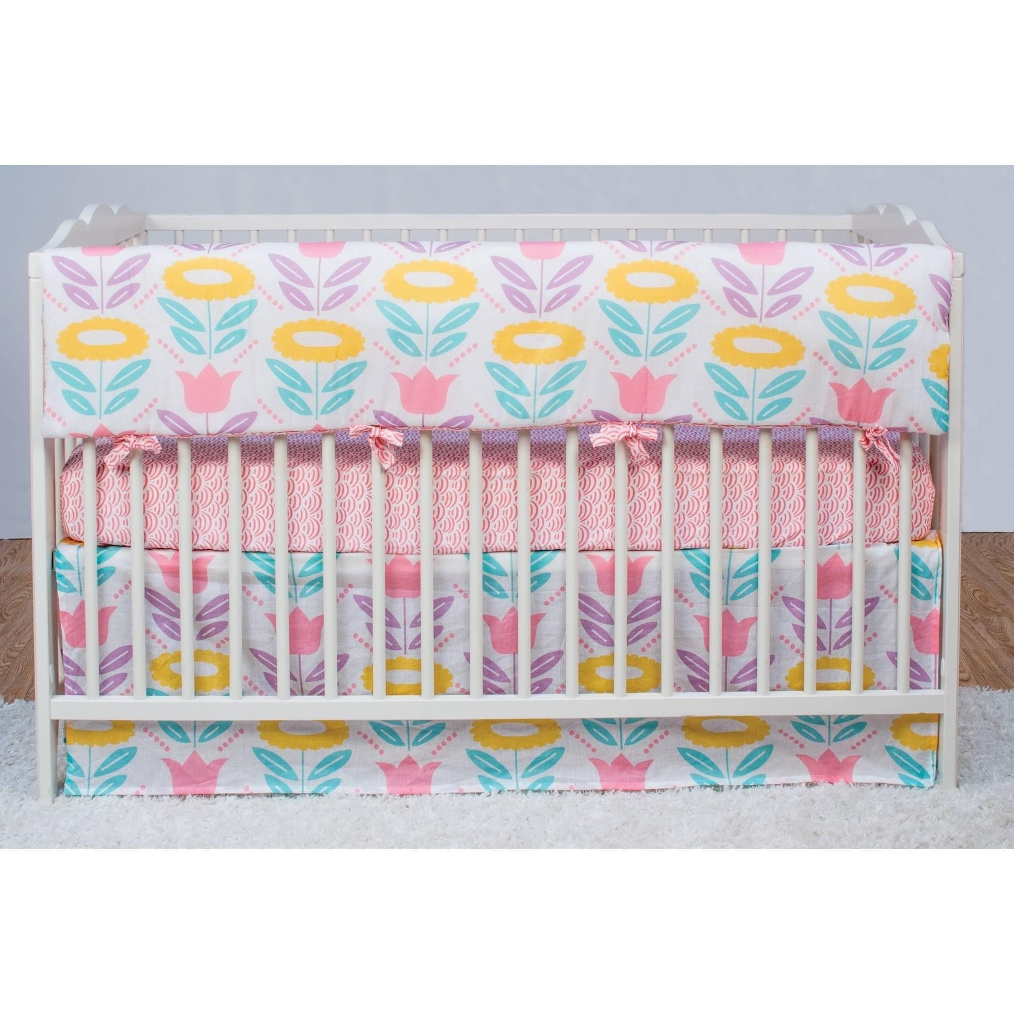 Poppi Living Flower Premium Cotton Crib Railing