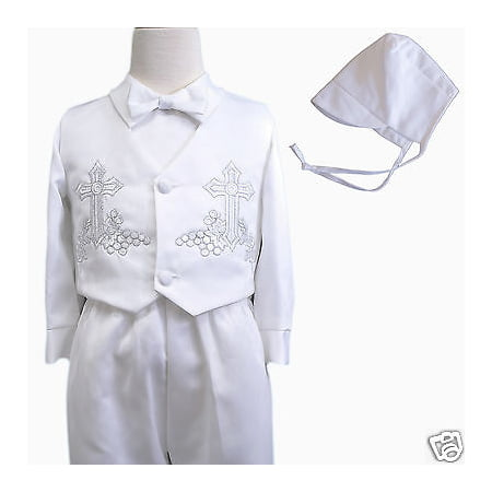 Suit Outfits (Baby Boy & Toddler Christen Baptism vest shorts Suit Gown Outfits sz XS-4T)